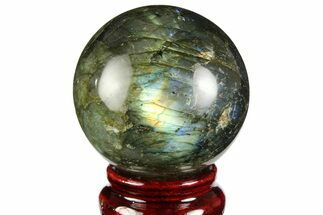 "Buy 2.2"" Flashy, Polished Labradorite Sphere - Great Color Play - #157990"