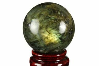 "2.1"" Flashy, Polished Labradorite Sphere - Great Color Play For Sale, #157997"
