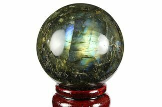 "2.35"" Flashy, Polished Labradorite Sphere - Great Color Play For Sale, #158012"