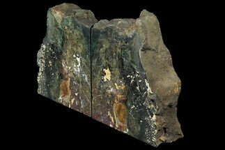 "6.2"" Green Jasper Replaced Petrified Wood Bookends - Oregon For Sale, #158883"