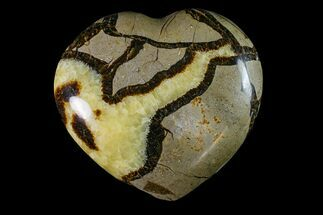 "Buy 4.1"" Polished Septarian Heart - Madagascar - #156655"
