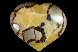 "Buy 3.9"" Polished Septarian Heart - Madagascar - #156658"