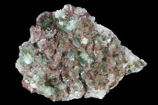 Rosasite, Malachite, Selenite & Dolomite - Fossils For Sale - #159459