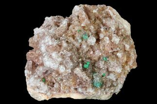 Rosasite, Malachite, Selenite & Dolomite - Fossils For Sale - #159465