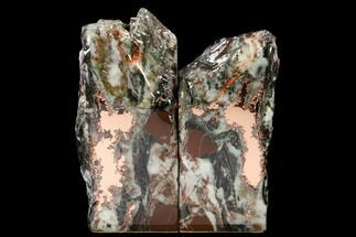 "Buy 5.9"" Tall, Copper Ore Bookends - Keweenaw Peninsula, Michigan - #160162"