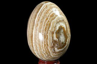 "Buy 5.55"" Polished, Banded Aragonite Egg - Morocco - #161251"