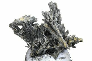 "1.2"" Metallic Stibnite Crystal Cluster - China For Sale, #161615"