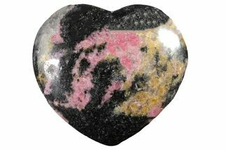 "Buy 3.3"" Polished Rhodonite Heart - Madagascar - #160456"