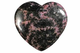 "3.2"" Polished Rhodonite Heart - Madagascar For Sale, #160457"