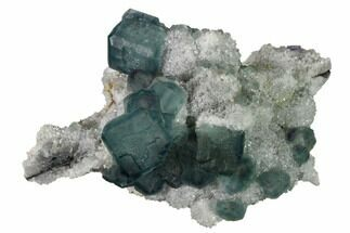 "3.2"" Multicolored Fluorite Crystals on Quartz - China For Sale, #164021"