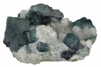 "Buy 3.6"" Multicolored Fluorite Crystals on Quartz - China - #164029"