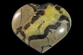 "3.6"" Polished Septarian Heart - Madagascar For Sale, #156671"