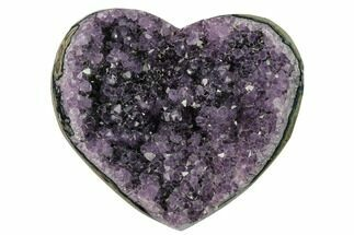 "4.5"" Amethyst Crystal Heart - Uruguay For Sale, #76817"