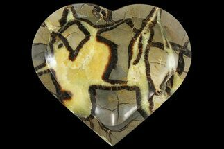 "Buy 8.6"" Polished, Heart-Shaped Septarian Dish - Madagascar - #157438"