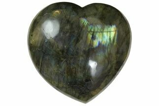 "Buy 3.3"" Flashy Polished Labradorite Heart - Madagascar - #167278"