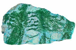 "4.4"" Polished Blue River Chrysocolla Slice - Arizona For Sale, #167576"