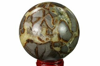 "Buy 2.5"" Crystal Filled, Polished Septarian Sphere - Utah - #167617"