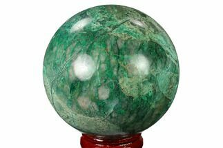 "Buy 2.45"" Polished Chrysocolla and Malachite Sphere - Bagdad Mine, Arizona - #167665"