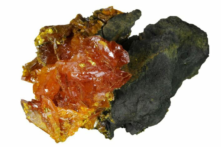 "2.5"" Orpiment Crystal Cluster on Matrix - Twin Creeks Mine, Nevada"