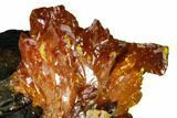 "2.5"" Orpiment Crystal Cluster on Matrix - Twin Creeks Mine, Nevada - #168399-3"