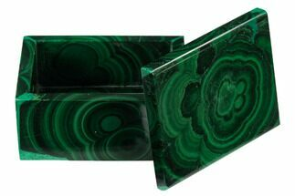 "Buy 2.2"" Polished Malachite Jewelry Box - Congo - #169855"