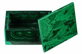 "Buy 2.15"" Polished Malachite Jewelry Box - Congo - #169852"