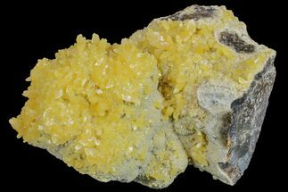 "3.8"" Fluorescent, Yellow Calcite Crystal Cluster - South Dakota For Sale, #170699"