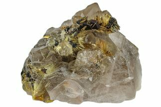 Quartz var. Smoky, Hematite & Rutile - Fossils For Sale - #173007