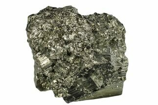 "3.1"" Shiny, Cubic Pyrite Crystal Cluster - Peru For Sale, #173264"