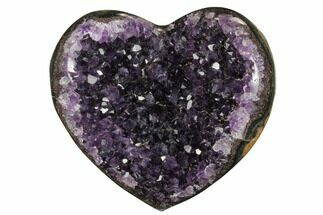 "Buy 4.3"" Dark Purple Amethyst Heart - Uruguay - #173236"