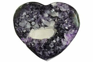 "3.5"" Dark Purple Amethyst Heart - Uruguay For Sale, #173237"