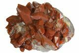 "4.5"" Sparkly, Red Quartz Crystal Cluster - Morocco - #173915-1"