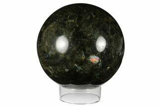 "6.9"" Flashy, Polished Labradorite Sphere - Madagascar For Sale, #176576"