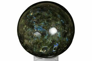 "Buy 7.4"" Flashy, Polished Labradorite Sphere - Madagascar - #176578"